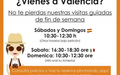 Visitas guiadas regulares por Valencia
