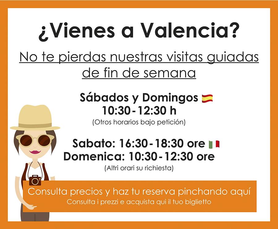 Visitas guiadas regulares Valencia